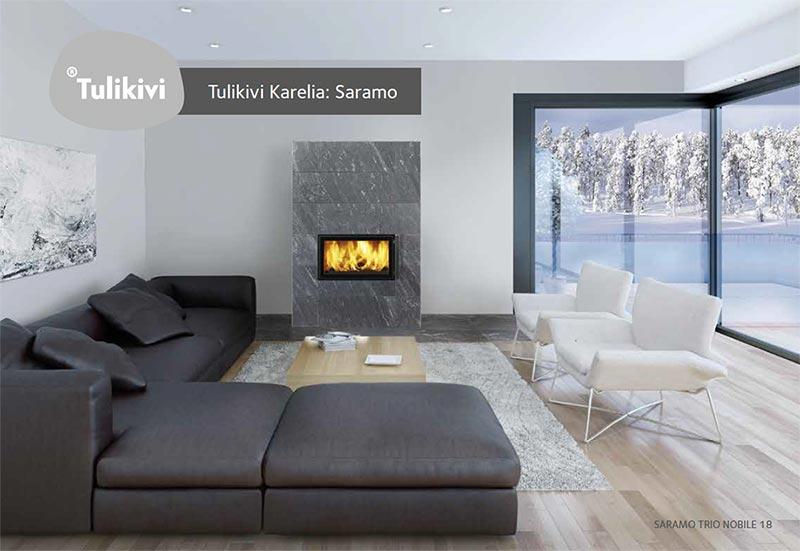 TULIKIVI Specksteinöfen Karelia: Saramo TRIO und Saramo S