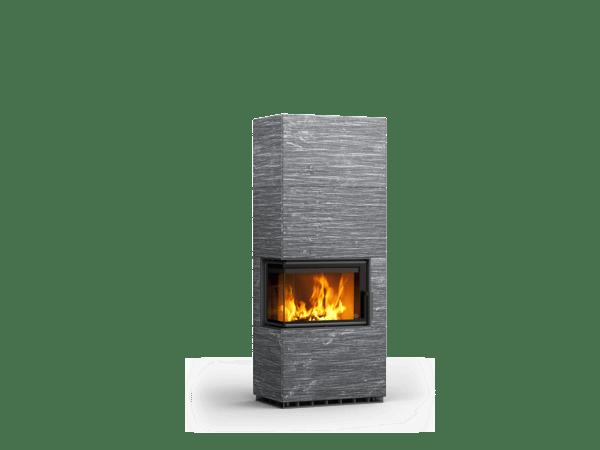 VALKIA mit Ofenbank und Holzdeckel als Brennstofflager